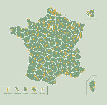 Cartes de localisation des productions à proximités