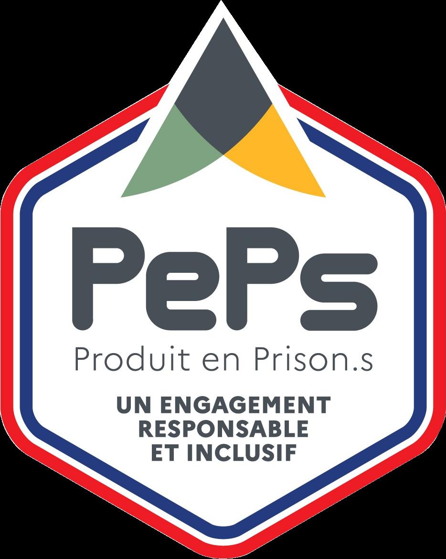 Logo du label PePs: Produit en Prison.s
